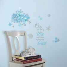 Disney FROZEN LET IT GO LETTERS WALL DECALS WALL QUOTES Stickers Bedroom Decor