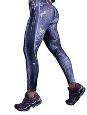 NEW! Purple  Drakon Micro Fiber But/Lift Colombian Apparel spandex Legging Gym