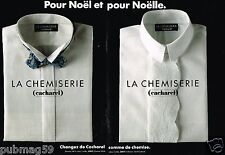 Publicité advertising 1989 (2 pages) Les Chemises et chemisiers cacharel