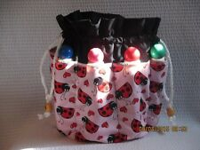 Bingo Bag   Ladybugs Gift Mother's Day  Gramms  Xmas  Graduation  Washable