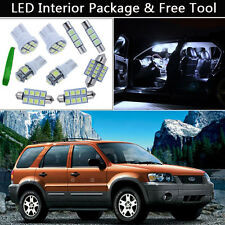 10PCS Bulbs White LED Interior Lights Package kit Fit 2001-2007 Ford Escape J1