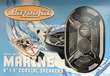 "NEW Bazooka MAC6910B 6""x9"" 3-Way Marine Speakers, Black (1 Pair)"