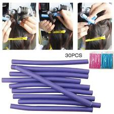30pcs Fashion hair curler makers soft foam hair rollers bendy twistee tool  SS