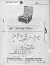 1957 ZENITH YP7L RECORD PLAYER PHONOGRAPH SERVICE MANUAL PHOTOFACT SCHEMATIC FIX