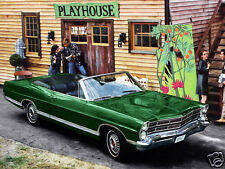 1967 Ford Galaxie 500 Convertible, GREEN, Refrigerator Magnet, 40 MIL
