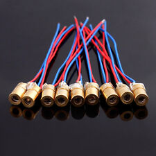 2pcs 650nm 6mm 5V 5mW mini Laser Dot Diode Module Head Color Red