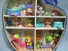 LITTLEST PET SHOP Lot of 8 Pets with 17 accesories little tear on the case