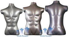 Inflatable Mannequin - Male Torso Package, Silver