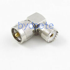 UHF PL-259 PL259 Male plug to UHF SO-239 Female right angle RF Connector Adapter