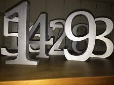 Wedding Table Numbers 1-12, Finished in Metallic Silver - Silver Wedding Numbers