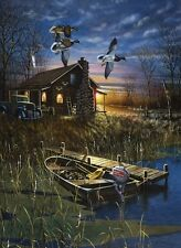 My Favorite Place by Jim Hansel, Cabin, Ducks, Print 13x17