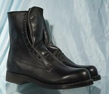 "New 1988 Black Leather Military ADDISON SHOE Co 9"" US Military Combat Boots 8D"