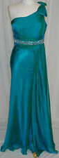 TEAL GREEN LONG BRIDESMAIDS COCKTAIL DRESSES EVENING FORMAL SZ 10 NEW CLOSE OUT