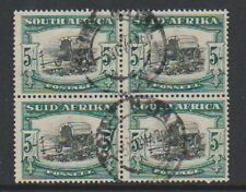 South Africa - 1933, 5s Black & Green - Block of 4 - G/U - SG 64
