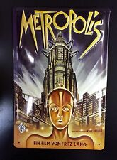 Metropolis Classic Movie & Embossed Metal Poster Sign Wall Decor Germany