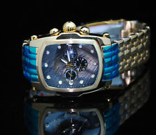 Invicta Grand Lupah Quartz Multi Function SS Bracelet Watch 2 extra Leather Band