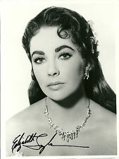 ELIZABETH TAYLOR original autograph signed 7x9 photo