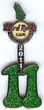 """Hard Rock Cafe HRCPCC 2011 11th Year MEMBER """"11"""" GUITAR PIN Club Membership HRC"""