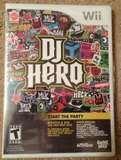 COMPLETE NEW SEALED 2009 NINTENDO WII DJ HERO VIDEO GAME FOR THE WII GAME SYSTEM