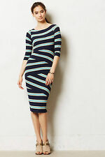 BAILEY 44 Anthropologie NWT $178 Pieced Stripes Column Dress Size Large