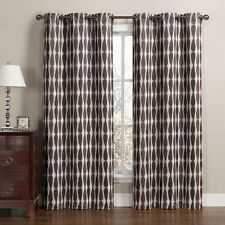 """Mansoon Woven Jacquard Insulated Blackout Curtain 76 x 84"""" (Pair)"""