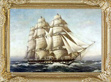 USS CONSTITUTION Dollhouse Picture Miniature FRAMED Art - MADE IN AMERICA