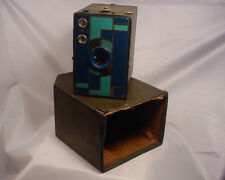Vintage Kodak 2A Camera Beau Brownie  Doublet Lens Blue Art Deco 1930