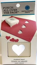 Martha Stewart PUNCH tutta la pagina paotp Borchie Cuore Carta CRAFT PUNCH