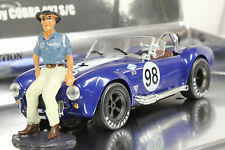 MRRC MC0001 SHELBY COBRA 427 NEW 1/32 SLOT CAR IN DISPLAY W/CAROLL SHELBY FIGURE