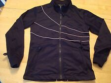 4 GIRLS WHO LOVE 2 RIDE POWDER ROOM BLACK ZIP UP TRACK JACKET PETITE SMALL EUC