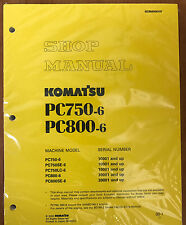 Komatsu PC750-6/LC/SE-6, PC800-6 PC800SE-6 Excavator Service Shop Repair Manual