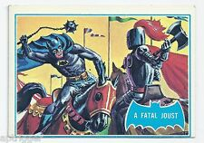 1966 Topps Batman Blue Bat with Bat Cowl Back (34B) A Fatal Joust