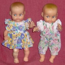 "2 - Vintage Lorrie Drink & Wet Baby Dolls - 11"" - 1971 - No Original Clothes"