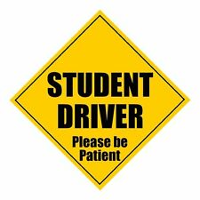 "Zone Tech Student Driver Please Be Patient 5"" x 5"" MAGNET Safety Caution Sign"