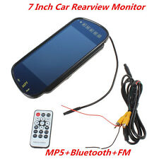 "7"" TFT LCD HD Car Rearview Mirror Monitor with Wireless Bluetooth SD USB MP5 FM"