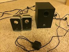 Logitech LS21 7 Watts RMS (FTC) 2.1 Stereo Speaker System - 3.5mm Input Black