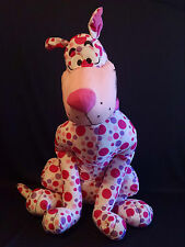 """Toy Factory Pink Polka Dot Plush Large Scooby Doo 28""""  331X045"""