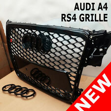 XB GRILLE FOR AUDI A4 TO RS4 S4 B8 SE S LINE BLACK FRAME MESH HONEYCOMB 08 - 12