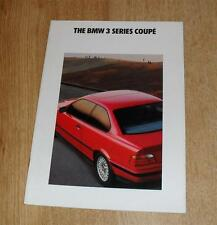 BMW 3 Series E36 Coupe Brochure 1992 - 318IS 320I 325I