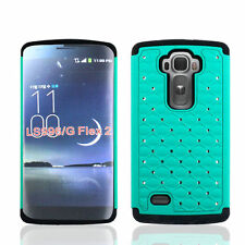 For LG G Flex 2 Hybrid Shockproof Hard Rugged Crystal Bling Diamond Case Cover