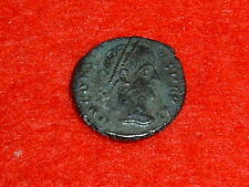 CONSTANS I (A.D. 337-350) BRONZE REDUCED FOLLIS OF ROME AUTHENTIC ROMAN COIN