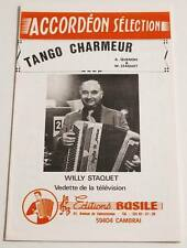 Partition sheet music WILLY STAQUET : Tango Charmeur * Accordéon Basile
