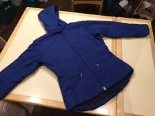 blue Nike Womens Full Zip Hooded Padded Parka Winter Coat  xs x-small 0 - 2