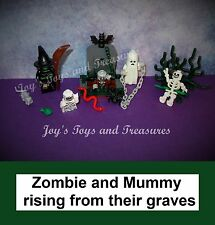 LEGO Halloween Skeleton Glow in Dark Mummy Ghost Witch Zombie 1 Graveyard Series