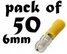 NEW Bullet Connector male 6mm yellow. Pack of 50. New Product, low Prices.