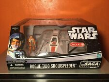 Star Wars Saga Collection Rogue Two Snowspeeder Vehicle Zev Senesca Pilot Hasbro