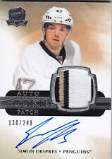 2011-12 UD THE CUP SIMON DESPRES RC /249 AUTO PATCH ROOKIE #140 11-12