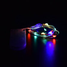 1M 10 LEDs Button Battery Operated Mini LED Copper Wire String Fairy Lights Lamp