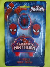 ULTIMATE SPIDERMAN - CANDLES pack of 4 for birthday cake PARTY   -  FREEPOST