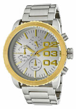 Diesel Chronograph Silver Sunray Dial 2 tone Steel Women Watch DZ5321 New Orig
